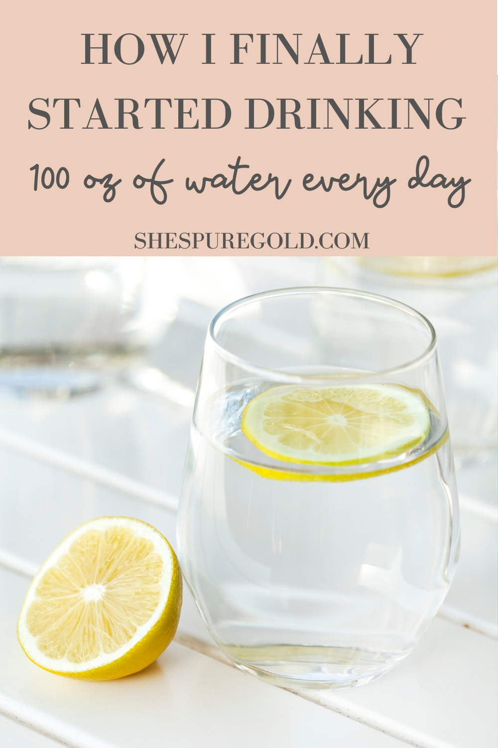 How to drink 100 oz of water every day