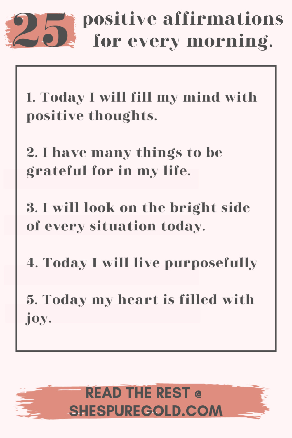 25 positive morning affirmations
