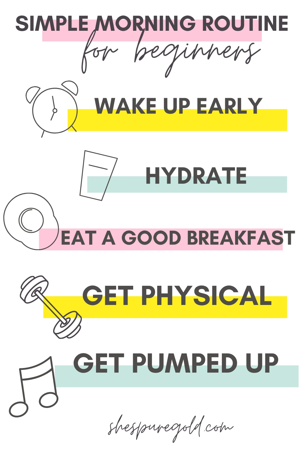 Simple 5 Step Morning Routine for Beginners