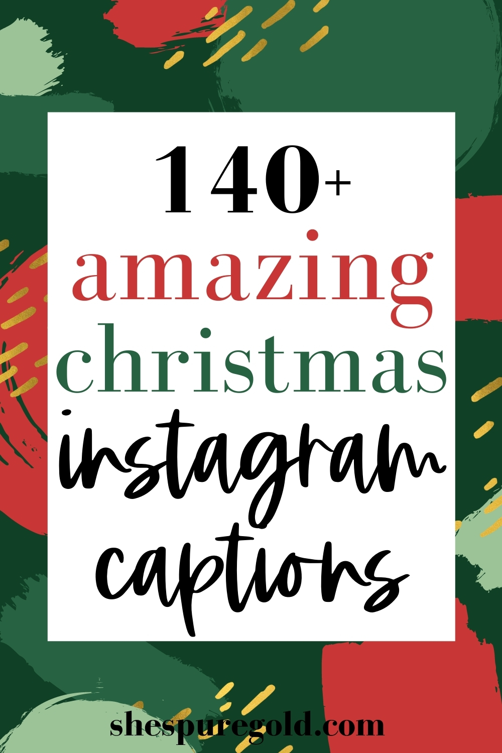 140 Christmas Captions for Creatives